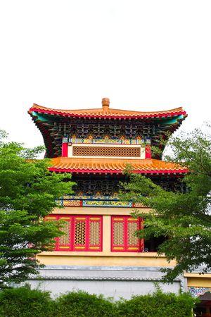 nonthaburi: Chinese Temple at Nonthaburi, Thailand Stock Photo