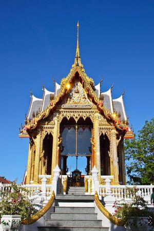 nonthaburi: a beautiful big church in temple at nonthaburi, thailand  Stock Photo