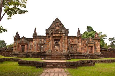 buriram: stone castle in Buriram Province, Thailand Stock Photo