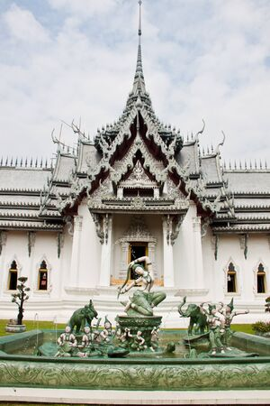 a white church in temple of thailand