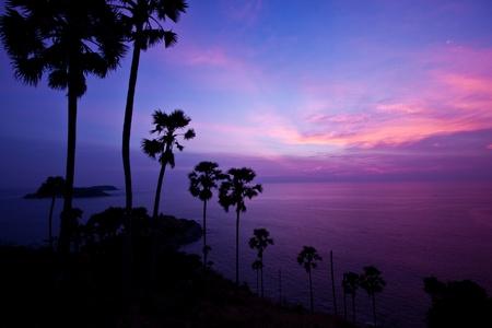 beautiful sunset at phuket island, thailand