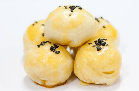 chinese cakes on white background