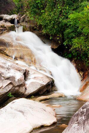 beautiful waterfall in western of thailand