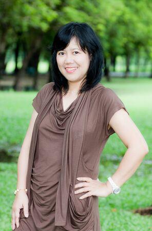 portrait of senior asian women