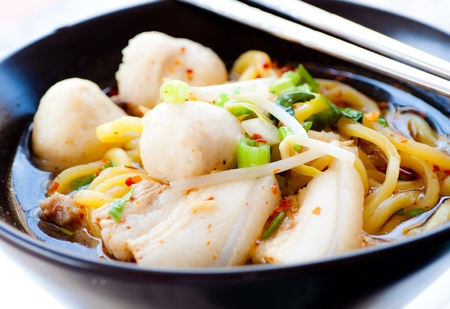 delicious chinese noodle photo