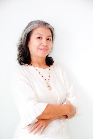 senior asian: portrait of senior asian woman Stock Photo