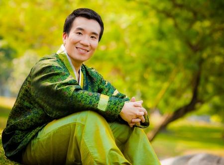 portrait of asian man smiling
