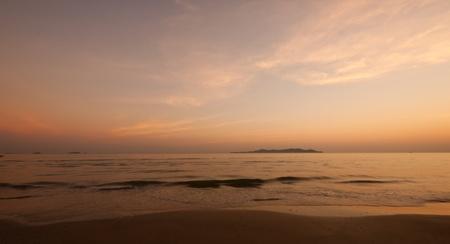 landscape of sea in twilight time
