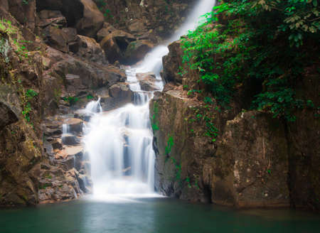 beautiful waterfall in national park, thailand  Stock Photo