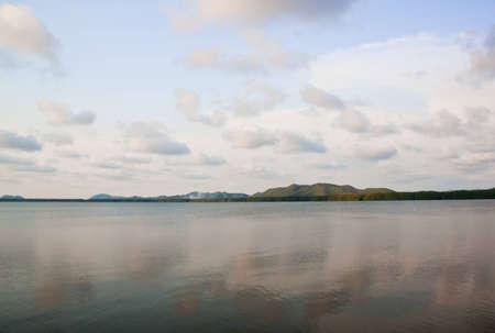 landscape of calm sea and blue sky