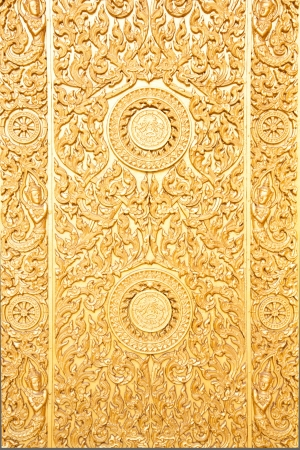 golden thai art pattern photo