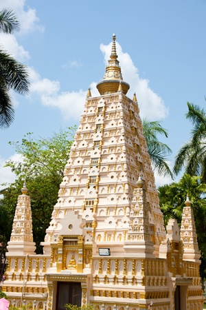 beautiful pagoda in temple, thailand Editorial