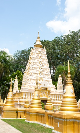 beautiful pagoda in temple, thailand Stock Photo