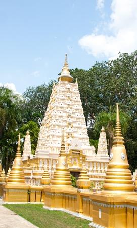 beautiful pagoda in temple, thailand Stock Photo