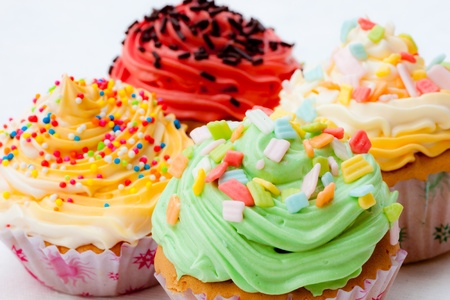 colorful cup cake Stock Photo