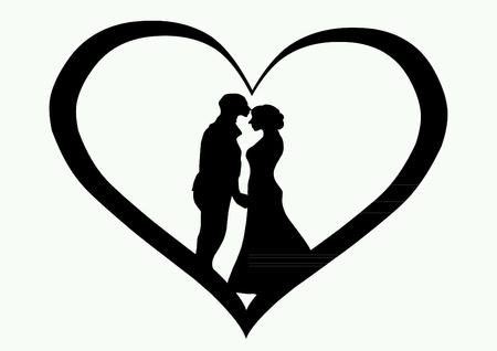 Besos en el corazón, imagen del concepto Foto de archivo