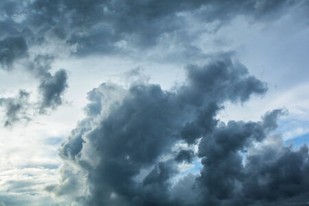 formidable: Dark clouds horrifying Stock Photo