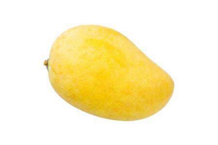 mango: Mango jest dojrzały na białym tle