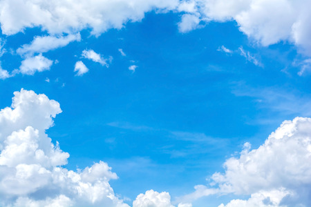 bright sky: abstract white cloud on the blue sky