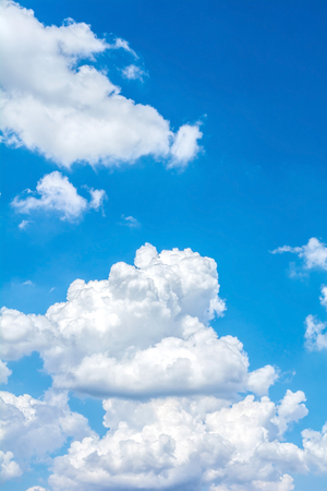 abstract white cloud on blue sky