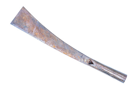 outlaws: Old knife isolated on white background Stock Photo
