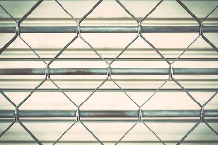 iron curtain: Steel Door Stock Photo