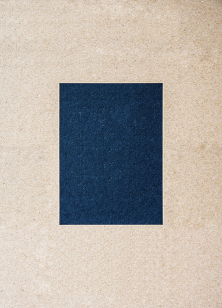 Card board paper with middle black square