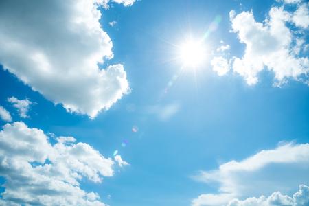 sunlight rays on the sky