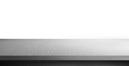 cement shelf table isolated on a white backgrounds, use for display products 스톡 콘텐츠