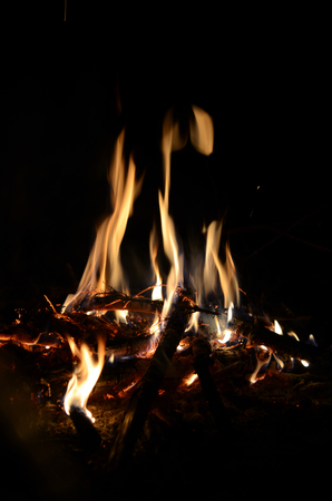 combustible: A fire on a camping