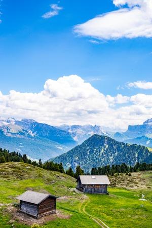 small mountain hut