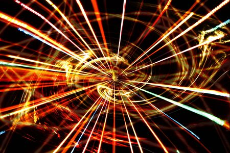 metaphorical: A metaphorical spiritual background showing various energies being created during the formation of a new galaxy in the cosmic. Stock Photo