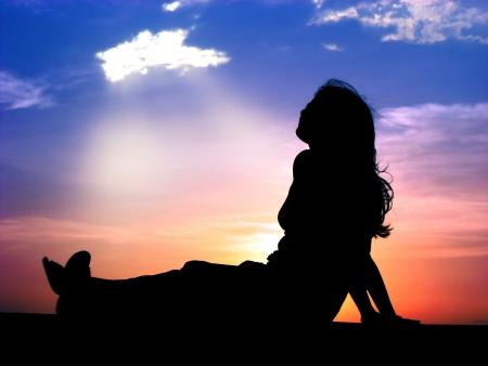 energy healing: Una bella immagine raffigurante una guarigione benedizione dal cielo