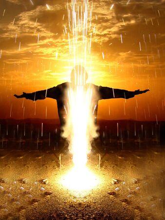 A beautiful metaphorical image depicting fountain of life Stock Photo