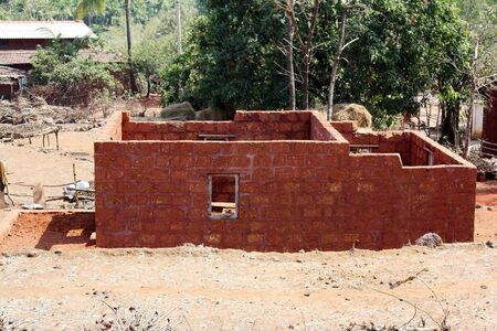 A house in a village under construction. photo