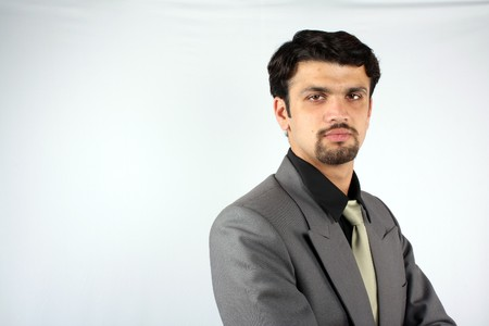 A portrait of a smart Indian businessman in a suit. Stock Photo - 6904705