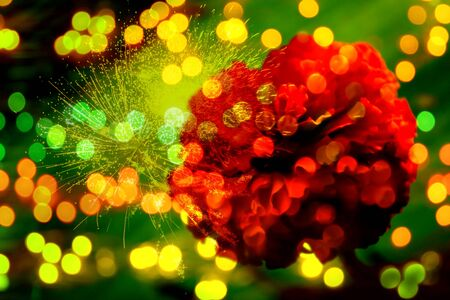 An abstract background with a futuristic design of digital lights and flowers. Stock Photo - 10255870