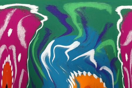 A background of an abstract tribal painting in bright colors. Stock Photo - 11793818