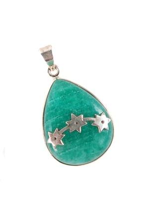 amazonite: An amazonite pendant also known as the  Stock Photo