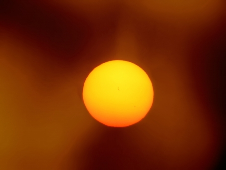 A astronomical image of our hot sun radiating heat and other radiation.                                Stock Photo