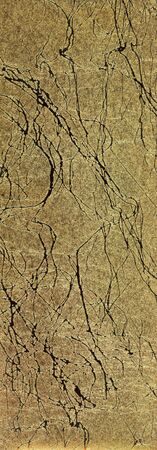 royals: A background of the surface of a handmade paper in cracked golden design used by ancient royals in India