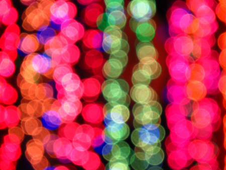 A blur background of colorful festival lights used for decoration. Stock Photo