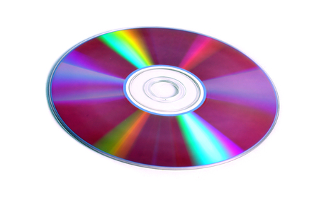 dvds: A blank DVD media kept on a white isolated background