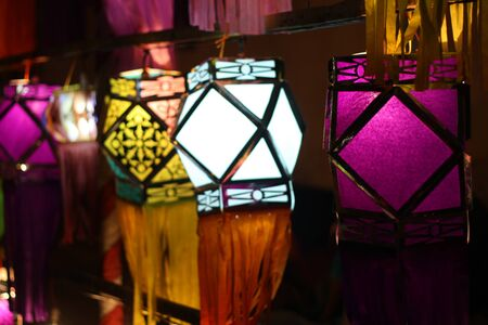 deepawali: Traditional handmade lanterns lit up on the occassion of Diwali festival in India.