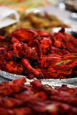 tandoori chicken: Delicious Tandoori Chicken served for Iftar during the month of Ramadan. Stock Photo