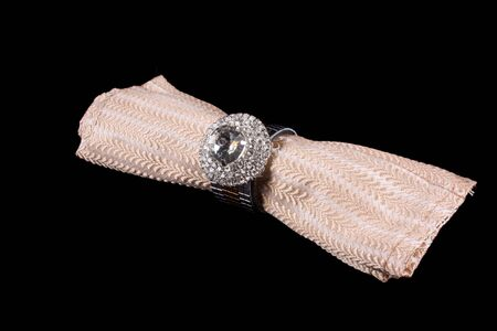 luxuries: A luxurious tissue holder designed and decorated with diamonds in silver.