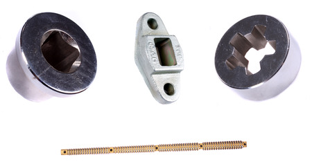 broach: A set of different industrial broaches used in machinery and automobiles.