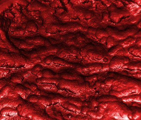 weird: A background red texture with a weird texture and design with small bubbles.