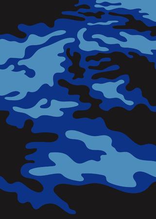 Abstract camo, Abstract blue came background Ilustração