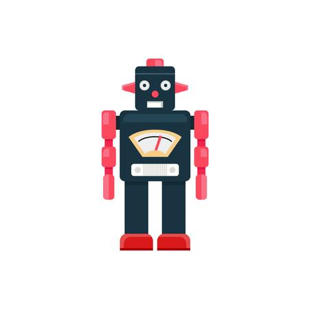 Robot, Retro robot, Robot tin toy, Robot vector